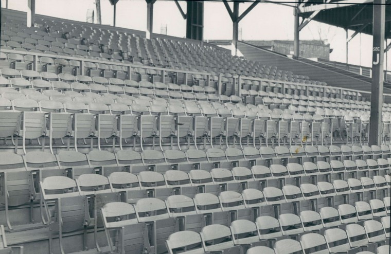 Empty stands await the start of an Orioles season in March 1939. (Baltimore Sun Archives)