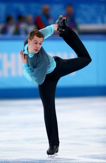 Peter Liebers of Germany competes in the Figure Skating Men's Short Program during the Sochi 2014 Winter Olympics at Iceberg Skating Palace. (Photo by Clive Mason/Getty Images)