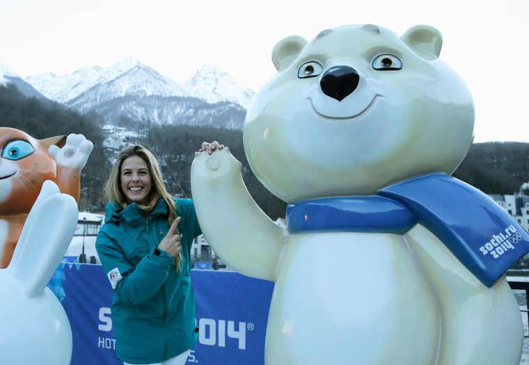 Torah Bright of the Australian snowboarding team poses in the Rosa Khutor Mountain Village ahead of the Sochi 2014 Winter Olympics. (Photo by Scott Halleran/Getty Images)