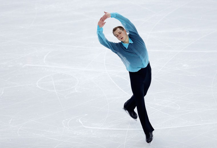 Peter Liebers of Germany competes in the Figure Skating Men's Short Program during the Sochi 2014 Winter Olympics at Iceberg Skating Palace. (Photo by Matthew Stockman/Getty Images)