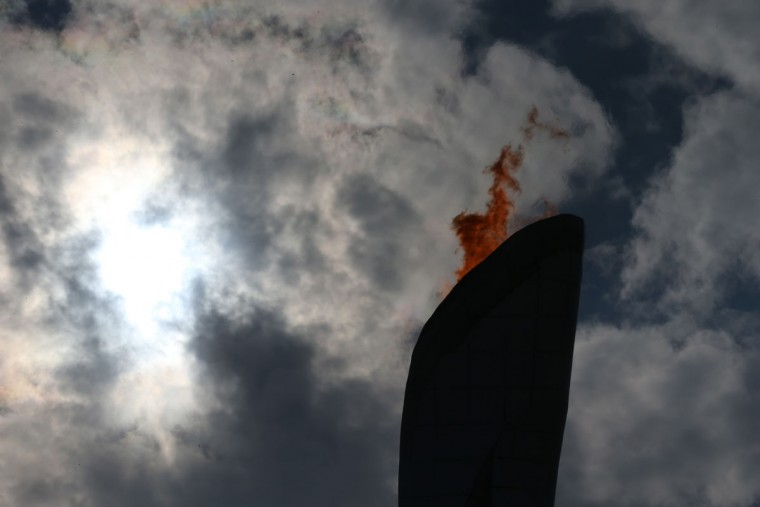 The Olympic flame burns during the 2014 Winter Olympics at the Olympic Park on February 17, 2014 in Sochi, Russia. (Bruce Bennett/Getty Images)
