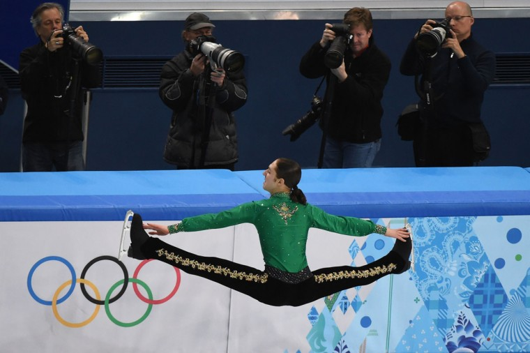 Jason Brown of the U.S. performs in the men's figure skating free program during the team skating event at the Sochi Winter Olympics on February 9, 2014. (Damien Meyer/AFP/Getty Images)