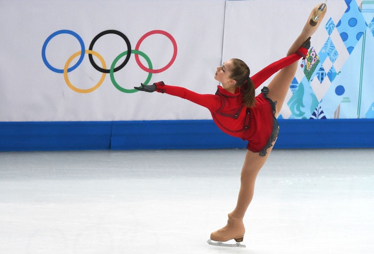 Russia's Julia Lipnitskaia performs in the women's figure skating team free program at the Iceberg Skating Palace during the Sochi Winter Olympics on February 9, 2014. (Damien Meyer/AFP/Getty Images)