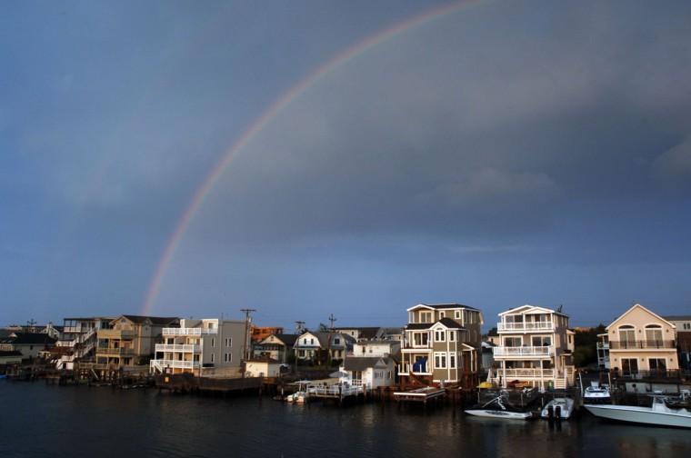 A rainbow at Avalon, N.J. -- a popular destination on the New Jersey coast. (Handout photo)