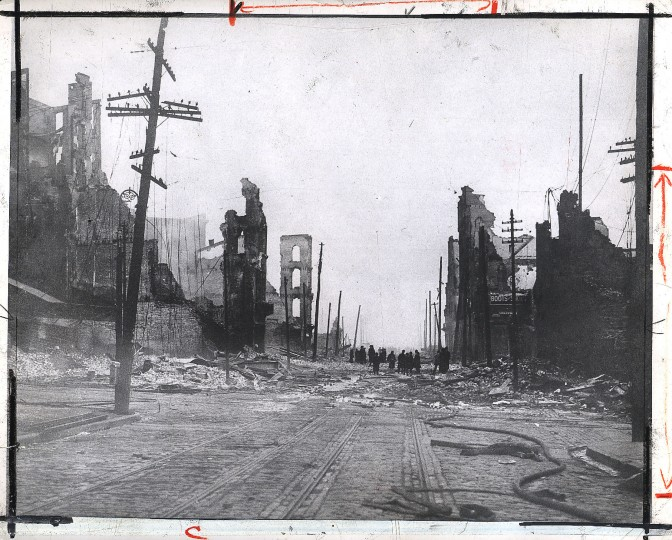 Baltimore Street east from Liberty Street. Photographer unknown.