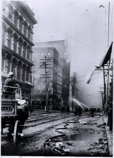 Baltimore city fire 1904. Photographer and publication date unknown.