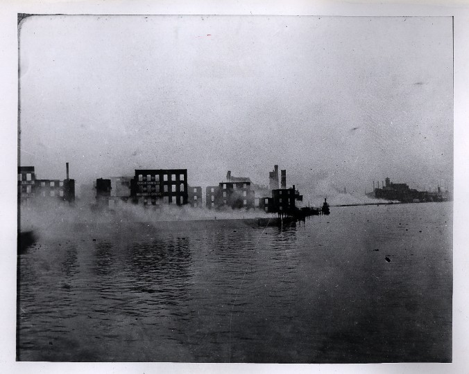 Looking east from Light Street Wharf. Judge Carroll T Bond photo.
