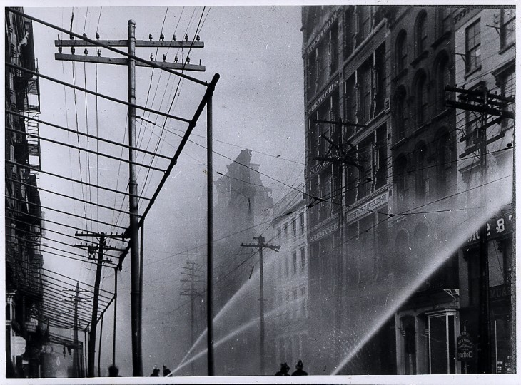 Baltimore city fire 1904, photographer and publication date unknown.