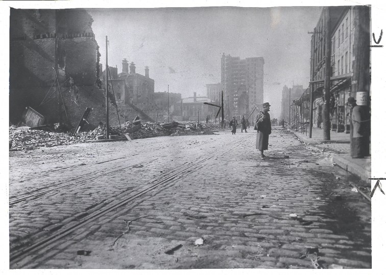 Looking West on Baltimore from about Fredrick St. Maryland Historical Society, photographer unknown.