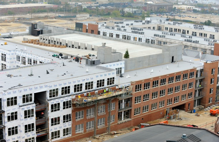 Brewers Hill housing complex where 600 new units were built. (Lloyd Fox/Baltimore Sun/Oct. 25, 2012)