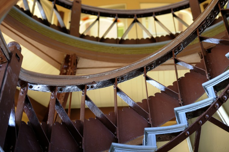 This is a detail from the staircase in the Patterson Park Pagoda. (Barbara Haddock Taylor/Baltimore Sun)