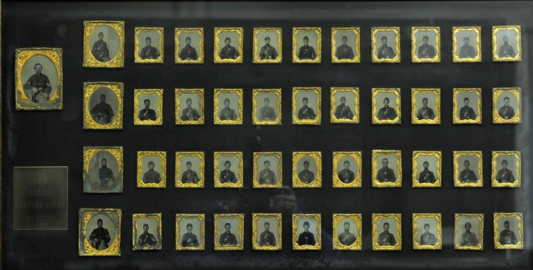 Daguerreotype photos of the entire Co. B Second Eastern Shore Infantry. (Lloyd Fox/Baltimore Sun)