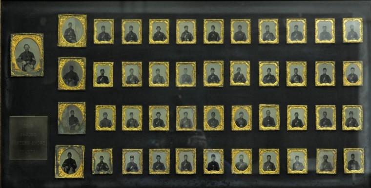 Daguerreotype photos of the entire Co. B Second Eastern Shore Infantry. (Lloyd Fox/Baltimore Sun)