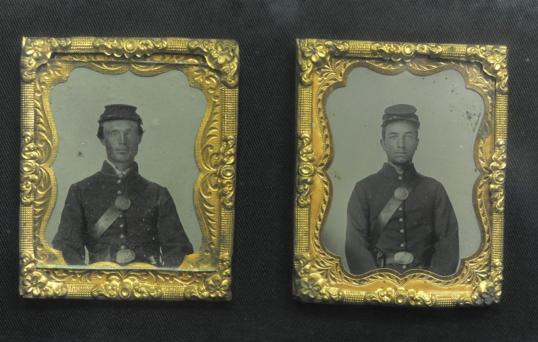 Daguerreotype photos on display at the armory. (Lloyd Fox/Baltimore Sun)