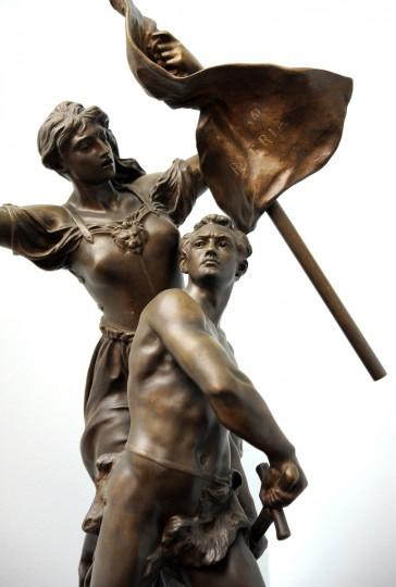 An early 1900's sculpture that was used as an award. (Lloyd Fox/Baltimore Sun)