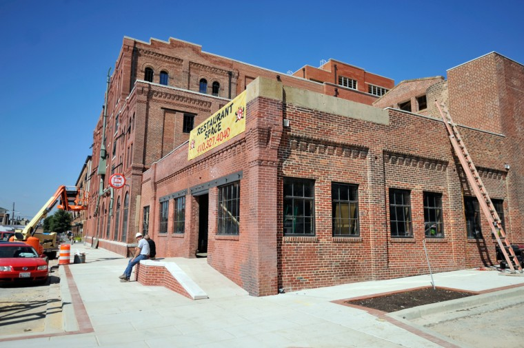 Obrecht Commercial Real Estate Inc. is converting the old Gunther Brewing buildings into apartments and retail space. (Kim Hairston/The Baltimore Sun/Sept. 20, 2013)