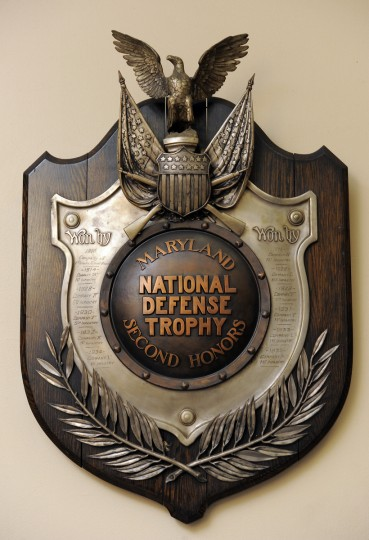 A Maryland National Defense Trophy that dates back to 1913. (Lloyd Fox/Baltimore Sun)