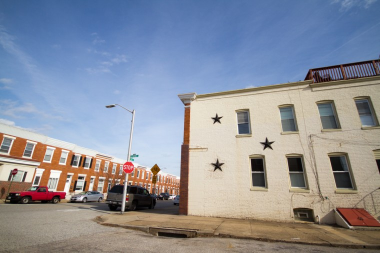 Brewers Hill, Baltimore, Md. The housing includes traditional Baltimore rowhouses built of redbrick and formstone. Many of the older houses have original architectural features, such as marble steps and porch fronts. (Kalani Gordon/Baltimore Sun)