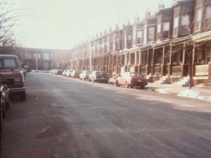 Undated photo of the Abell rowhomes and streets, courtesy of Jo Ann Robinson.