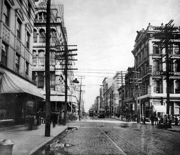 Baltimore and Chase streets before the fire of 1904