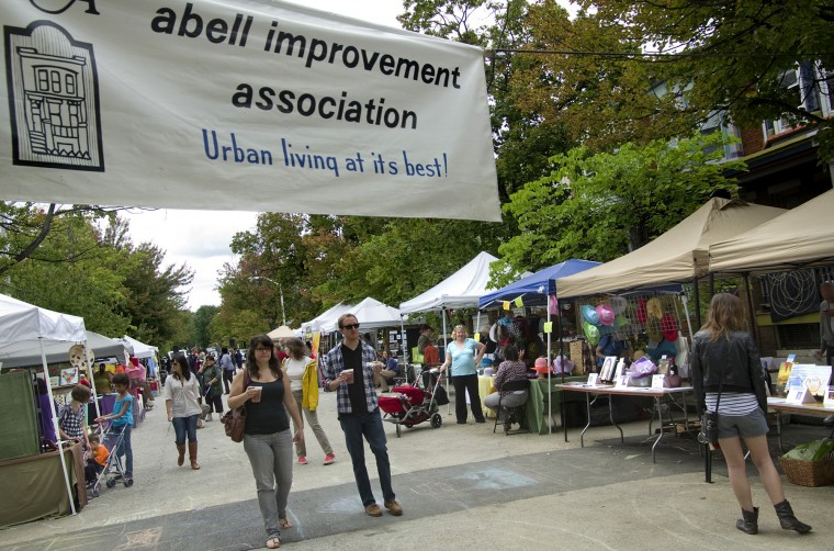 Abell community in Baltimore holds annual street fair in the 3100 block of Abell Ave. (Brendan Cavanaugh/P3 Imaging Inc./9/18/2011)
