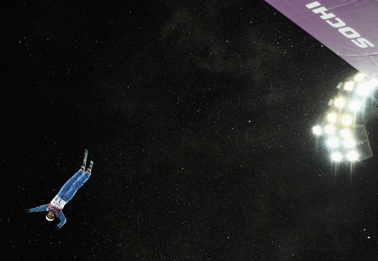 Belarus' Alla Tsuper performs a jump during the women's freestyle skiing aerials finals at the 2014 Sochi Winter Olympic Games in Rosa Khutor February 14, 2014. REUTERS/Dylan Martinez