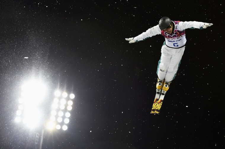 Australia's David Morris performs a jump during the men's freestyle skiing aerials finals at the 2014 Sochi Winter Olympic Games in Rosa Khutor February 17, 2014. (Dylan Martinez/Reuters)