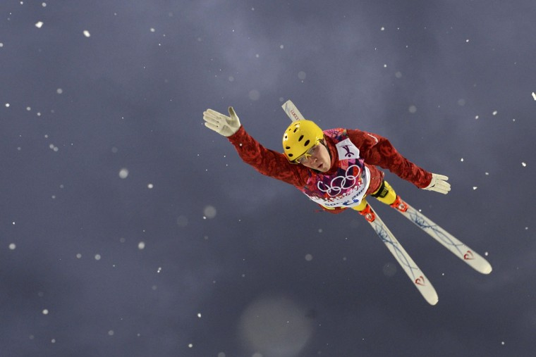 Russia's Pavel Krotov competes during the men's freestyle skiing aerials qualification round at the 2014 Sochi Winter Olympic Games in Rosa Khutor February 17, 2014. (Dylan Martinez/Reuters)