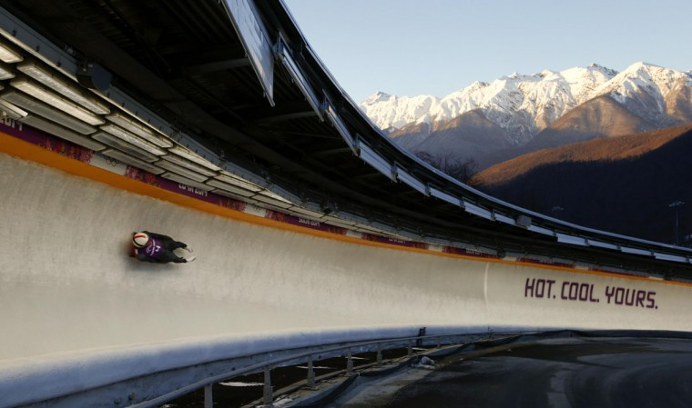 Germany's Felix Loch speeds down the track during a men's luge training at the Sanki sliding center in Rosa Khutor, a venue for the Sochi 2014 Winter Olympics near Sochi. (REUTERS/Arnd Wiegmann)