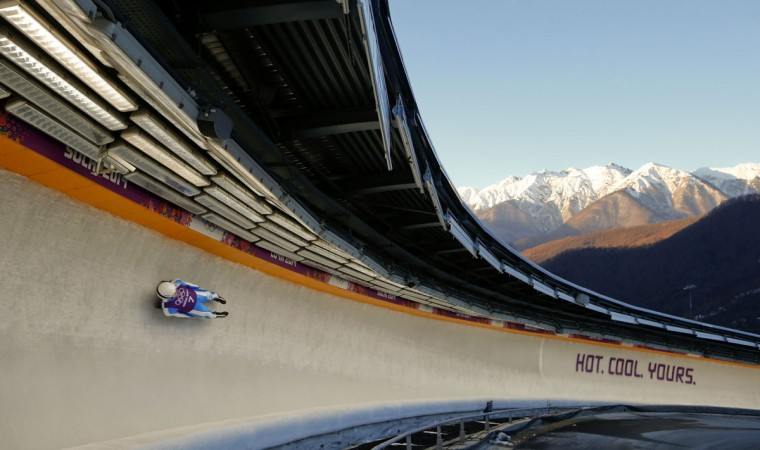Italy's Emanuel Rieder speeds down the track during a men's luge training at the Sanki sliding center in Rosa Khutor, a venue for the Sochi 2014 Winter Olympics near Sochi. (REUTERS/Arnd Wiegmann)