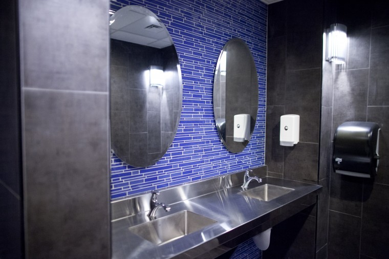 Renovated bathrooms at Torrent Lounge. (Jen Rynda/BSMG)