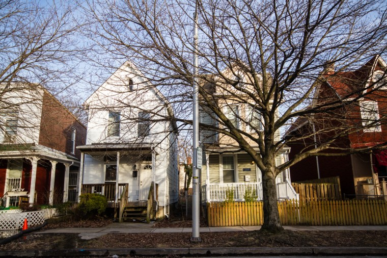 Along Barclay Street are a number of late-19th century free-standing homes where historically African American families lived, atypical of the traditional Abell rowhomes. (Kalani Gordon/Baltimore Sun/2014)