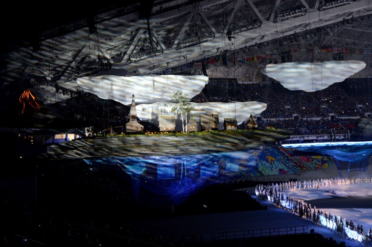 A scene showing the heritage of Russia is portrayed during the Opening Ceremony of the Sochi Winter Olympics at the Fisht Olympic Stadium on February 7, 2014 in Sochi. (Damien Meyer/AFP/Getty Images)