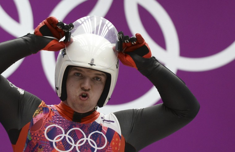 Austria's Wolfgang Kindl prepares to compete during the Men's Luge Singles Run at the Sliding Center Sanki during the Sochi Winter Olympics on February 8, 2014. (Lionel Bonaventure/AFP/Getty Images)