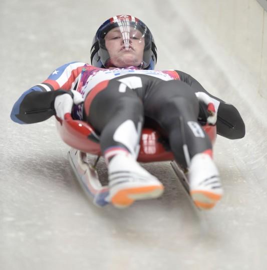 Aidan Kelly (USA) during the Sochi 2014 Olympic Winter Games at Sanki Sliding Center. (John David Mercer-USA TODAY Sports)