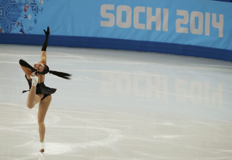 Kaetlyn Osmond of Canada competes during the Team Ladies Short Program at the Sochi 2014 Winter Olympics, February 8, 2014. (REUTERS/David Gray)