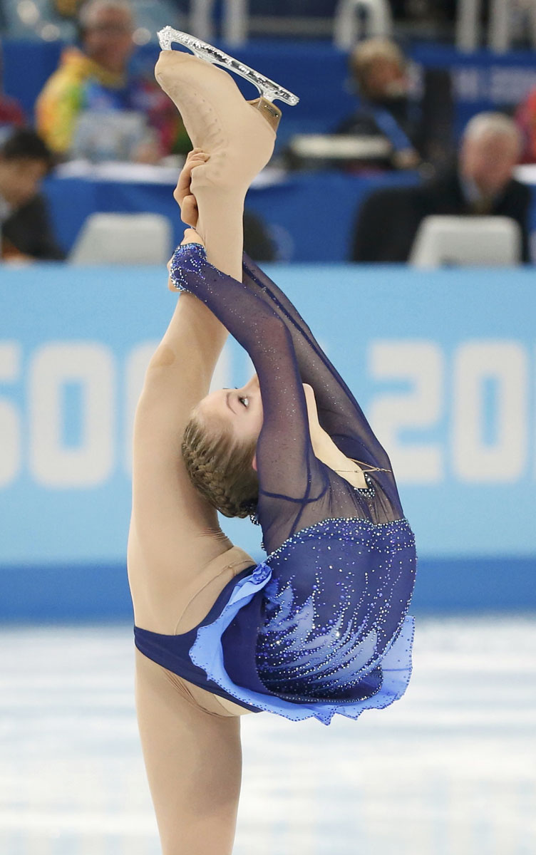 Yulia Lipnitskaya of Russia competes during the figure skating team