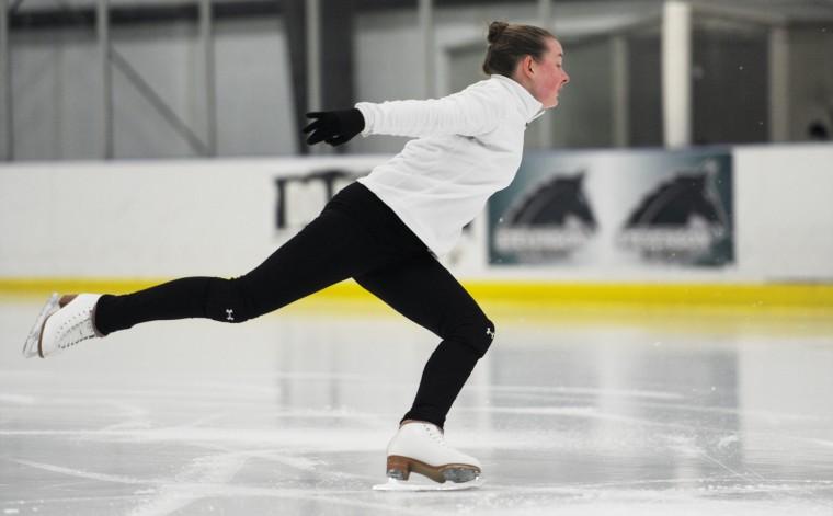 Erin Coyne prepares for a spin. (Jon Sham/BSMG)