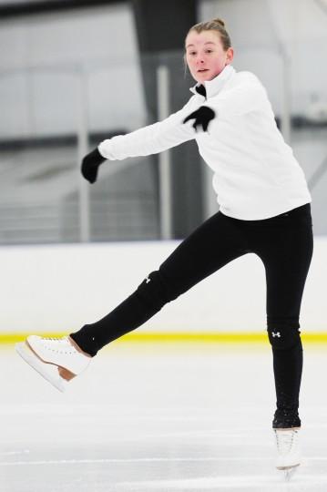 Erin Coyne practices. (Jon Sham/BSMG)