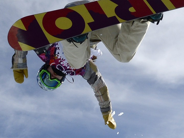 US Arielle Gold competes in the Women's Snowboard Halfpipe Qualifications at the Rosa Khutor Extreme Park during the Sochi Winter Olympics on February 12, 2014. (Franck Fife/AFP/Getty Images)