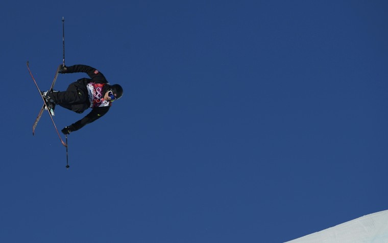 Norway's Andreas Haatveit performs a jump during the men's freestyle skiing slopestyle qualification round at the 2014 Sochi Winter Olympic Games in Rosa Khutor February 13, 2014. REUTERS/Dylan Martinez