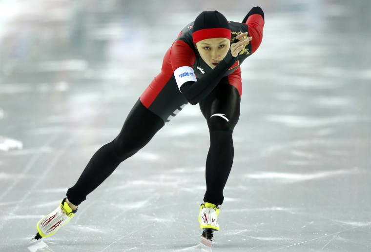 China's Zhang Hong competes in the women's 1,000 metres speed skating event during the 2014 Sochi Winter Olympics, February 13, 2014. REUTERS/Issei Kato