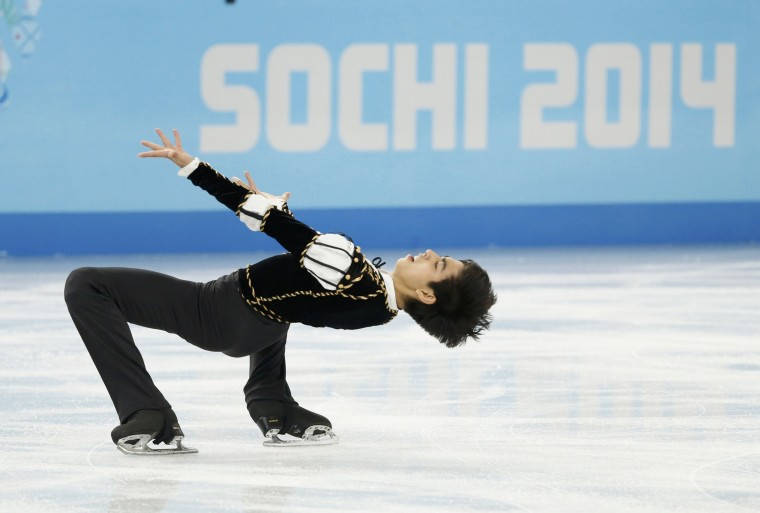 Michael Christian Martinez of the Philippines competes during the figure skating men's short program at the Sochi 2014 Winter Olympics, February 13, 2014. REUTERS/Lucy Nicholson