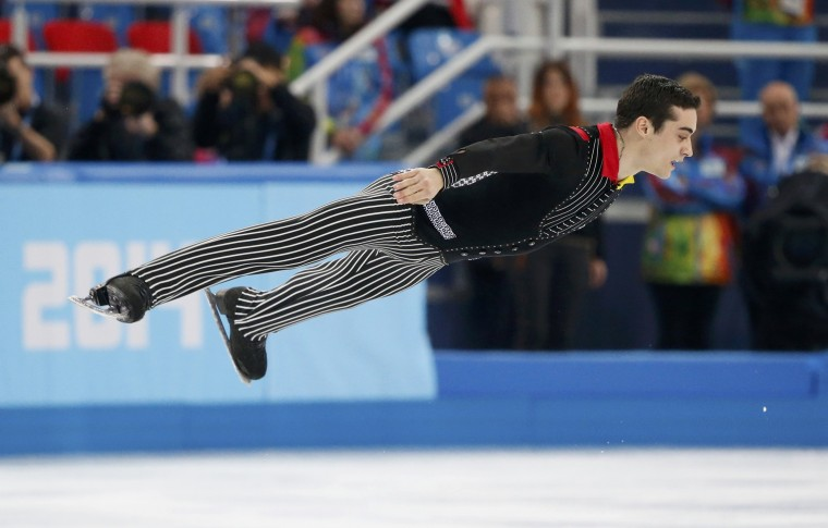 Spain's Javier Fernandez competes during the figure skating men's short program at the Sochi 2014 Winter Olympics, February 13, 2014. REUTERS/Lucy Nicholson