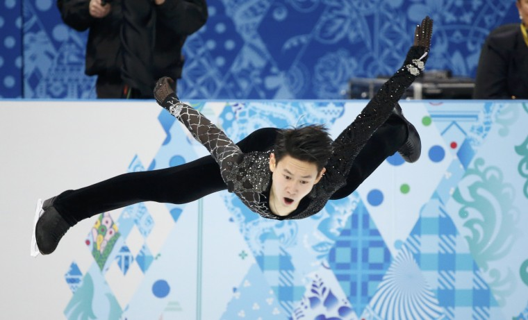 Kazakhstan's Denis Ten competes during the figure skating men's short program at the Sochi 2014 Winter Olympics, February 13, 2014. REUTERS/Lucy Nicholson