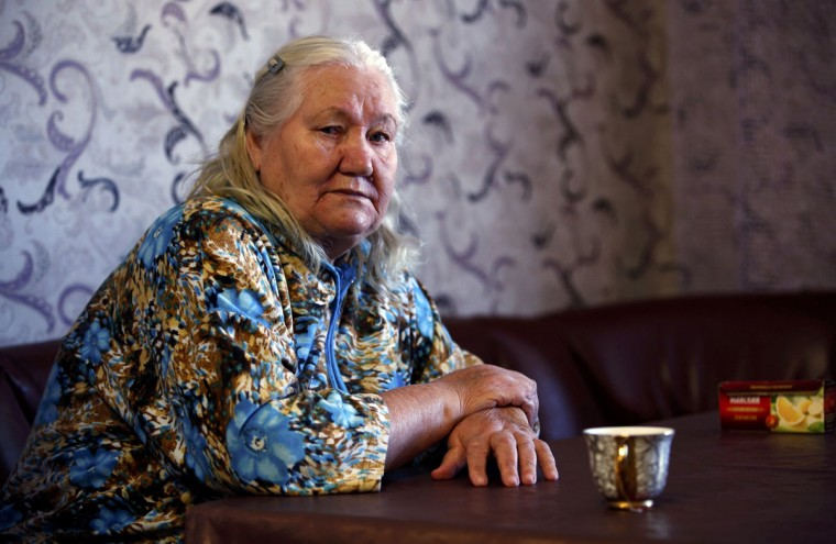 Lyudmila Frolova is pictured in her home in Sochi, February 12, 2014. (Eric Gaillard/REUTERS)