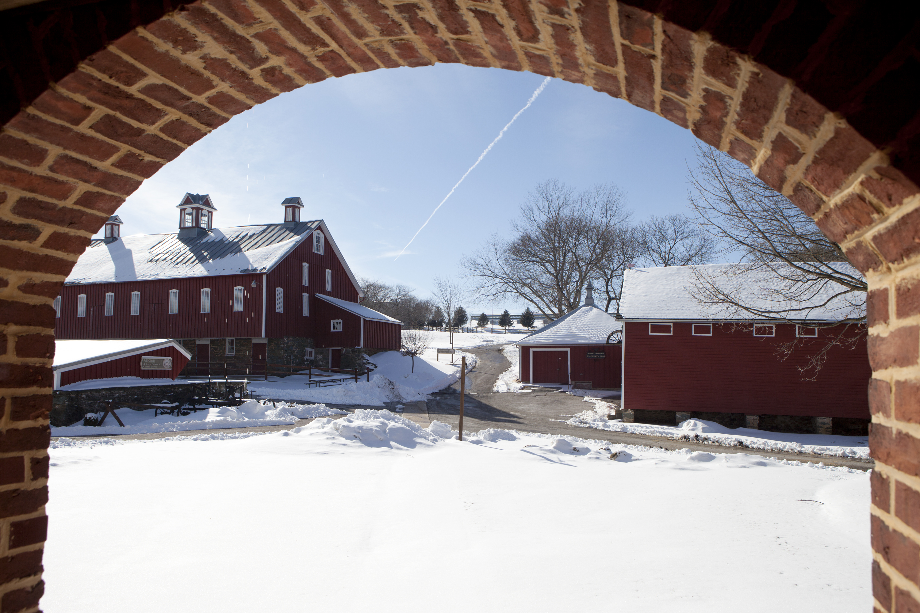 Snow covers Carroll County Farm Museum