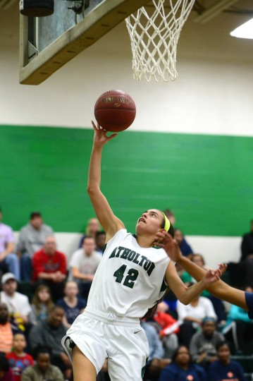 Atholton's Francesca Venegas puts up a shot after a break away. (Matt Hazlett/BSMG)