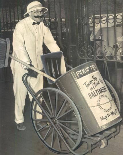 Pick Up Pete at Mount Royal Station. (Joe Di Paola Jr./Baltimore Sun file/April 27, 1950)