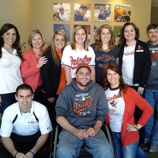 The Foundation team set to head to Camden Yards to root for the Orioles! (@calripkinsrfoundation)